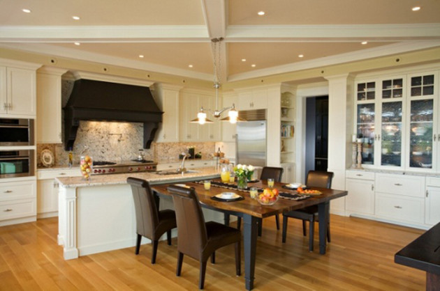 Kitchen dining room layouts