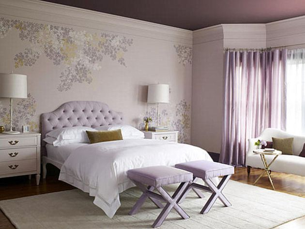 Фото: современный дизайн спальной комнаты для девушек