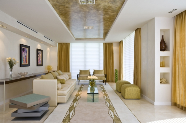 Фото: мраморный натяжной потолок