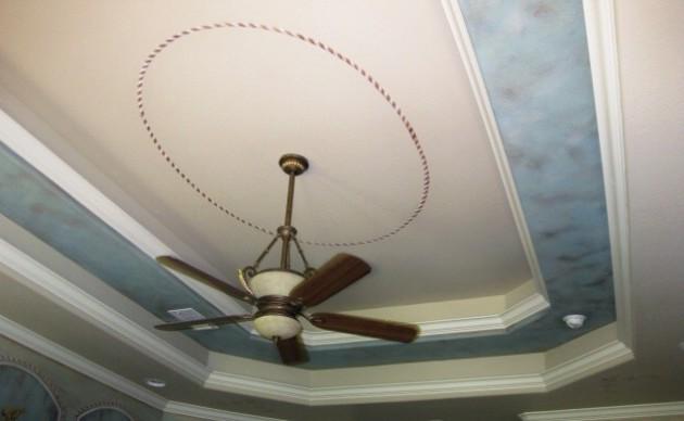 Фото: тканевый натяжной потолок