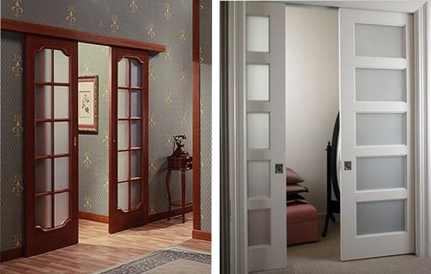 Фото: раздвижные двери