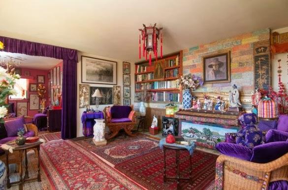 Фото: цветовая чехарда в интерьере комнаты подчеркнет особенности стиля бохо