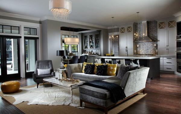 Фото: гостиная, совмещенная с кухней