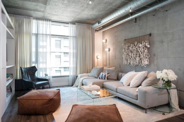 Фото: стеклянные столики в гостиной добавят в интерьер частицу оригинальности