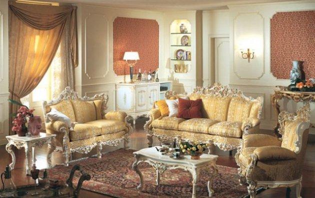 Фото: мебель с резной спинкой считается важным предметом в стиле барокко