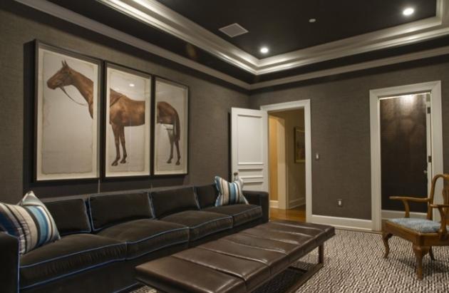 Фото: черный потолок поможет вам создать в гостиной необычный дизайн