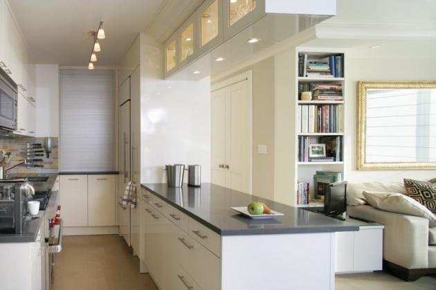 Фото: кухня, совмещенная с гостиной