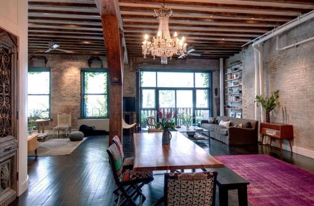 Фото: декорирование потолка деревянными балками