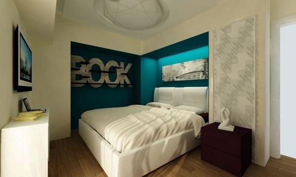 Фото: размещение изголовья кровати в нише