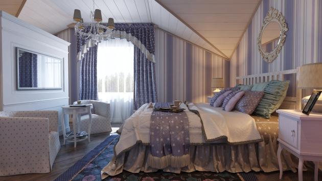Фото: спальня на мансарде