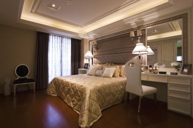 Фото: спальня в стиле необарокко