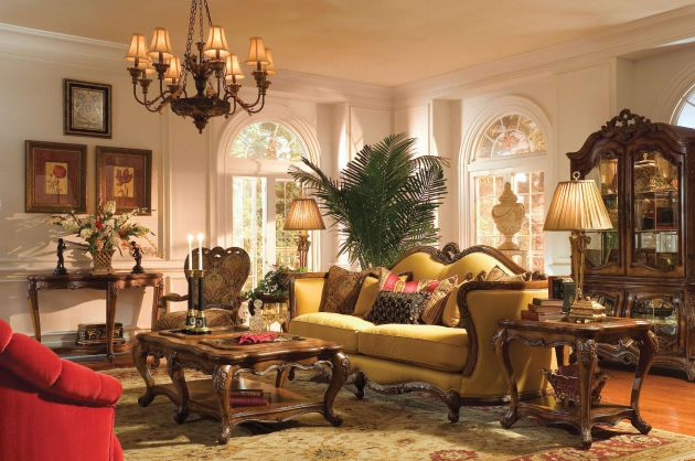 Фото: гостиная в стиле барокко