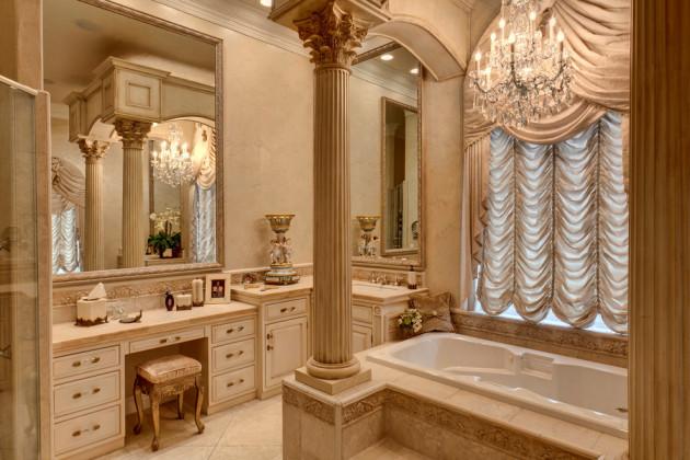 Фото: декорирование ванной колоннами