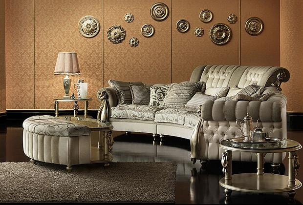 Фото: мебель для гостиной в стиле необарокко