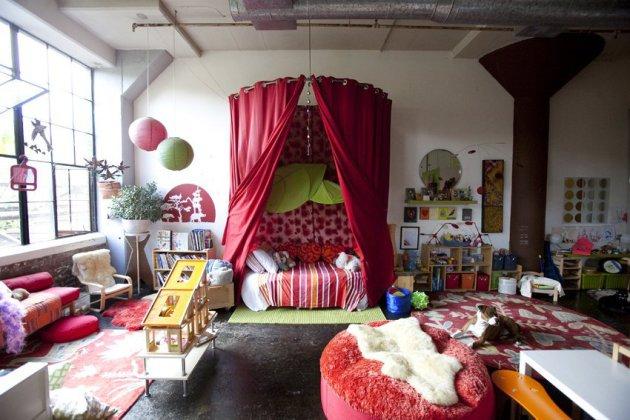 Фото: детская комната, оформленная в стиле бохо