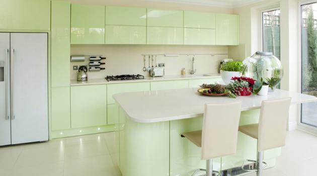Фото: кухня в пастельных тонах