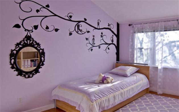 Фото: декорирование стен виниловыми наклейками