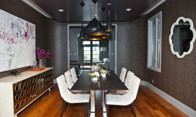 Фото: черный потолок с точечным освещением