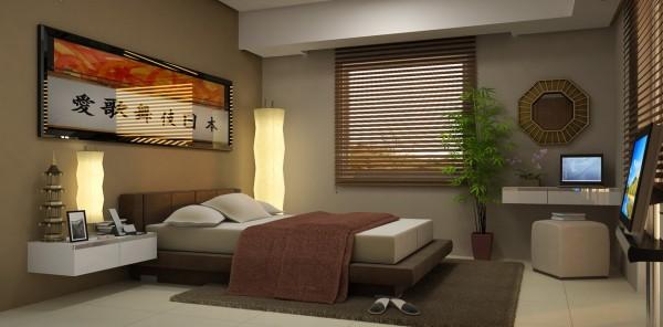 Фото: спальня в стиле японского минимализма