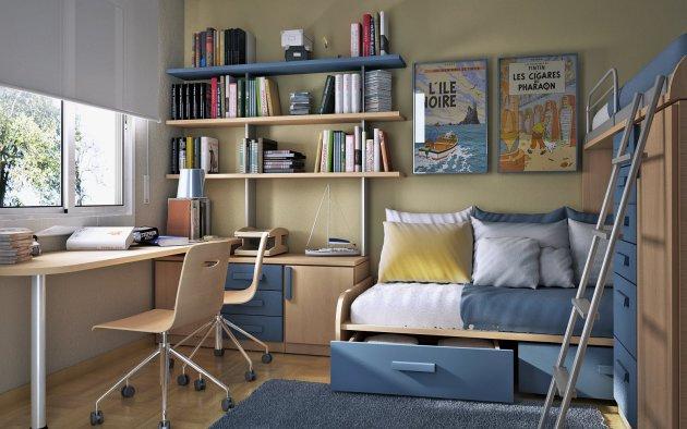 Фото: кровать с выдвижными ящиками для хранения вещей поможет сэкономить место в комнате вашего ребенка