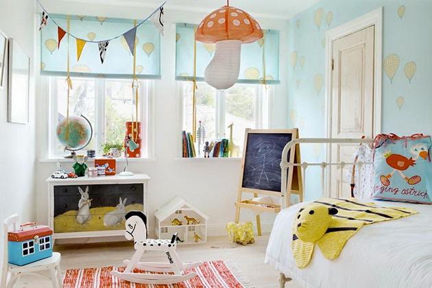 Фото: декорирование детской комнаты в скандинавском стиле