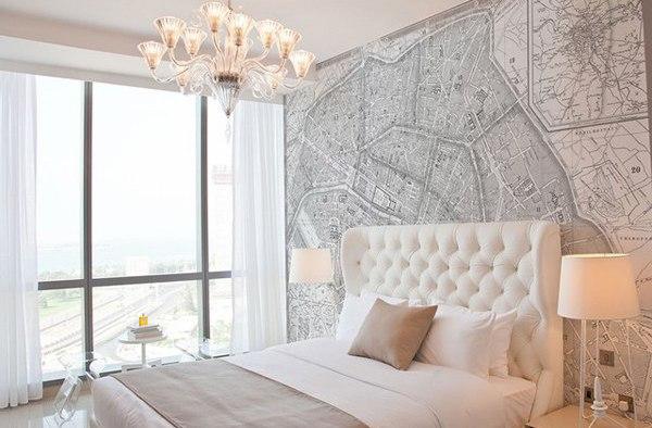Фото: фотообои в интерьере спальни
