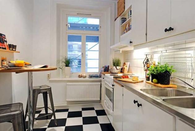 Фото: грамотное размещение кухонного уголка