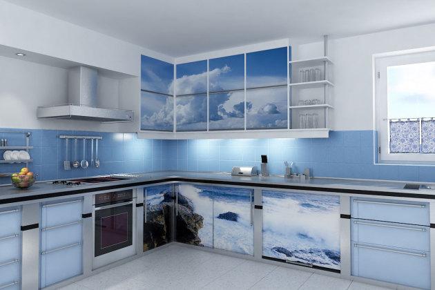 Фото: фотопечать на кухонном гарнитуре