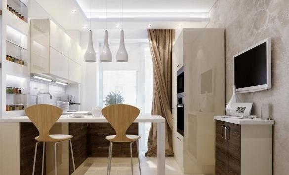 Фото: многоуровневый потолок с точечным освещением