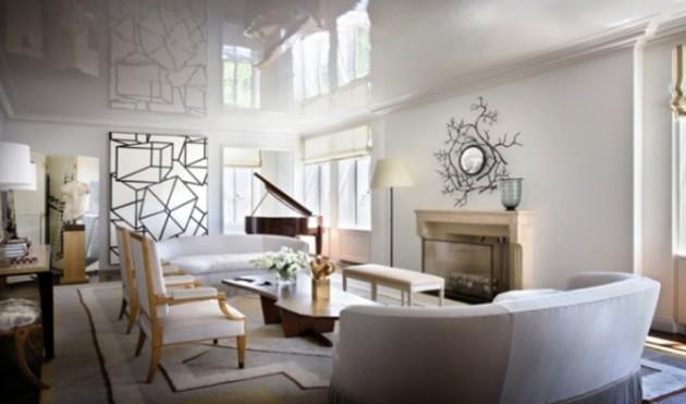 Фото: декорирование стены абстрактной картиной