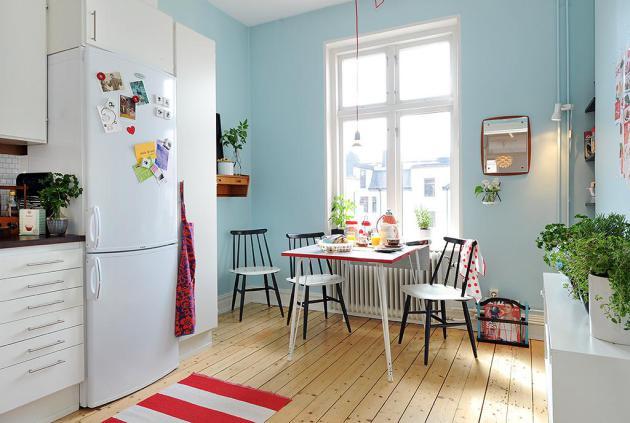 Фото: кухня, совмещенная со столовой