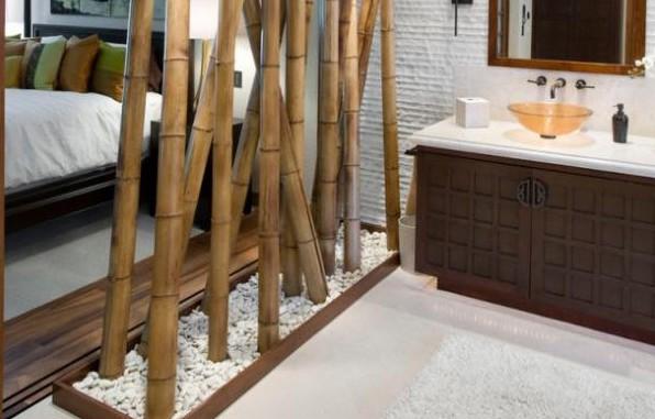 Фото: бамбуковые перегородки