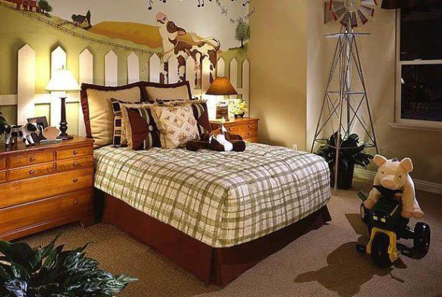 Фото: ковролин коричневого цвета в интерьере детской комнаты