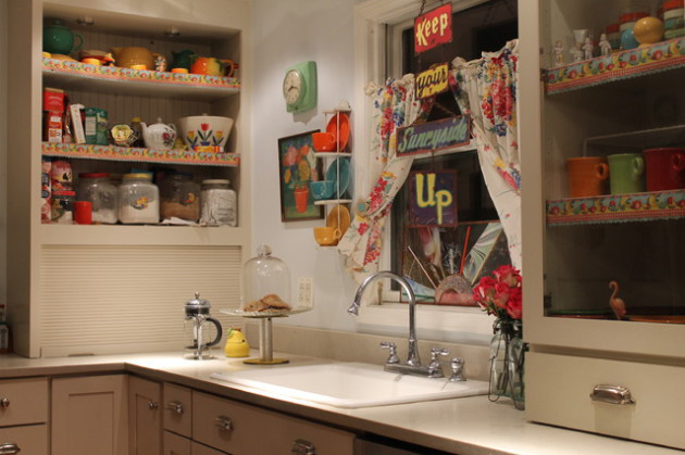 Фото: кухня в стиле китч