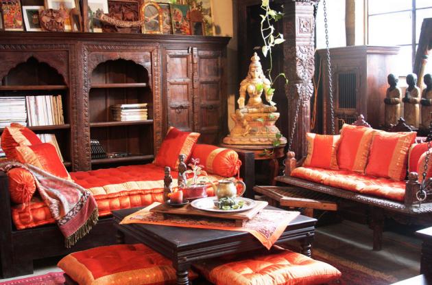 Фото: гостиная в индийском стиле