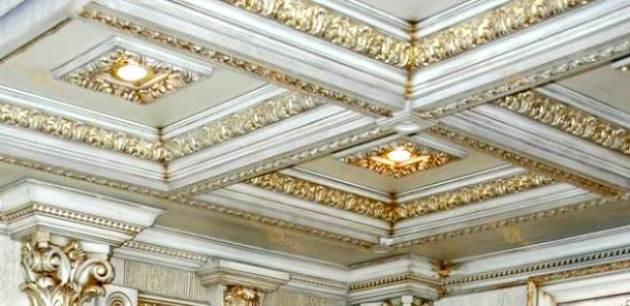 Фото: кессонный потолок