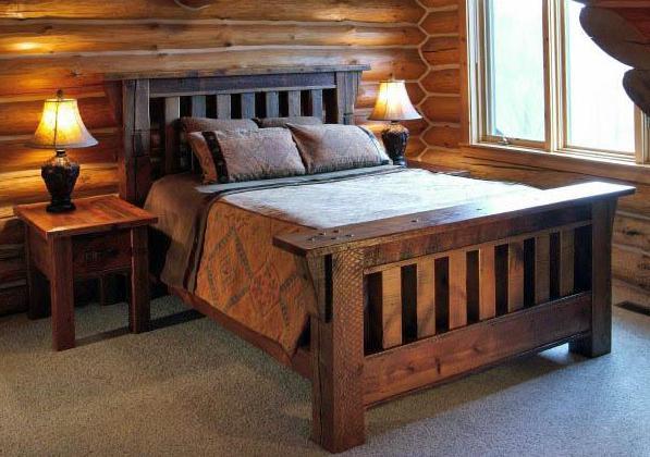 Фото: спальня в стиле русского кантри
