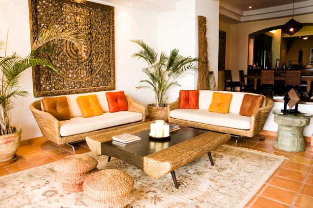 Фото: декорирование комнаты живыми растениями