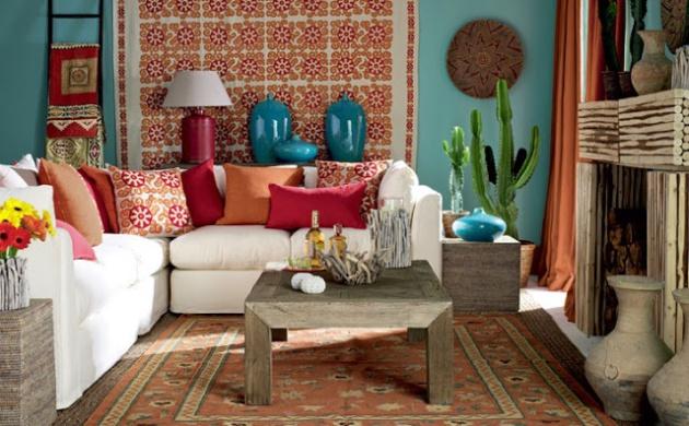 Фото: современная гостиная в мексиканском стиле