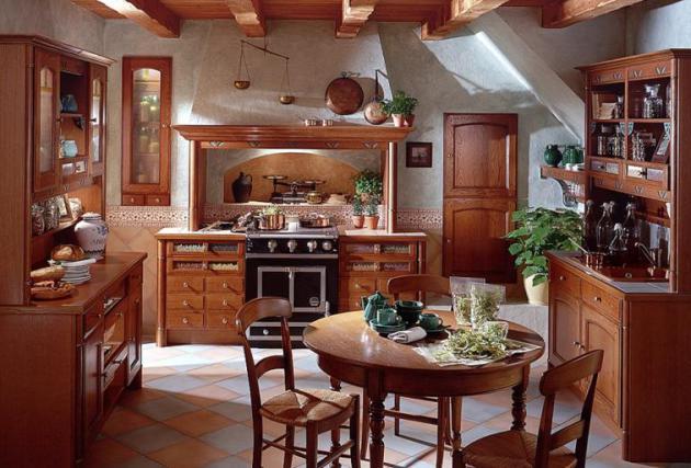 Фото: кухня в стиле русского кантри
