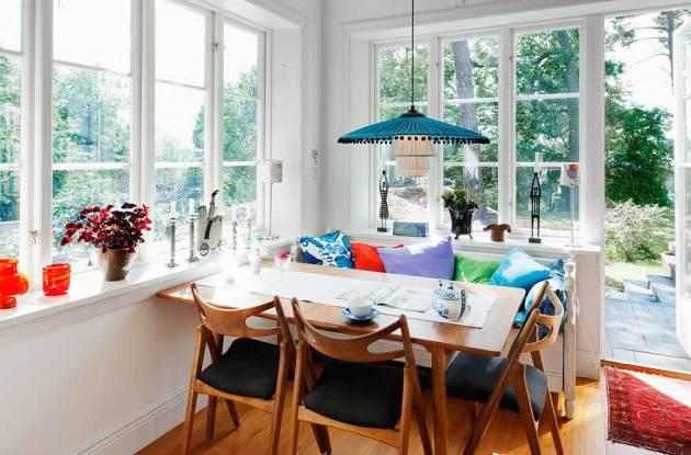 Фото: столовая в шведском стиле