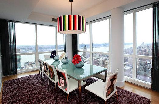 Фото: столовая в стиле поп-арт