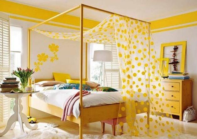 Фото: кровать с балдахином в комнате девочки-подростка