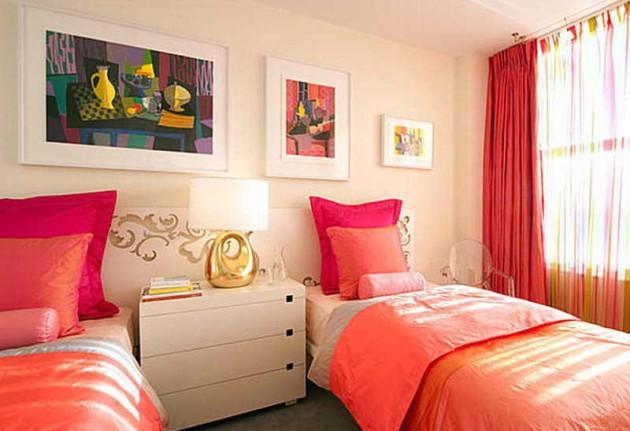 Фото: сочетание оранжевого и розового