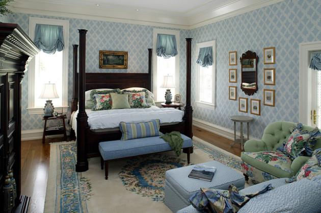 Фото: спальня в стиле английского кантри