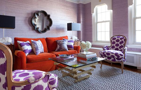 Фото: фиолетовые бамбуковые обои