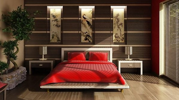 Фото: декоративное деревце бонсай в интерьере спальни