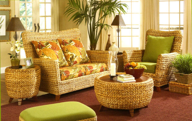 Фото: плетеная мебель