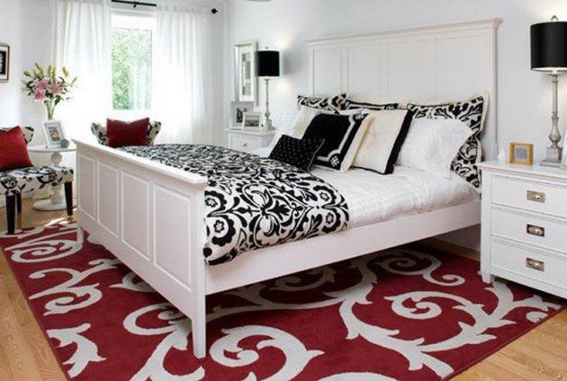 Фото: сочетание красного и черного помогут вам внести немного оригинальности в интерьер комнаты