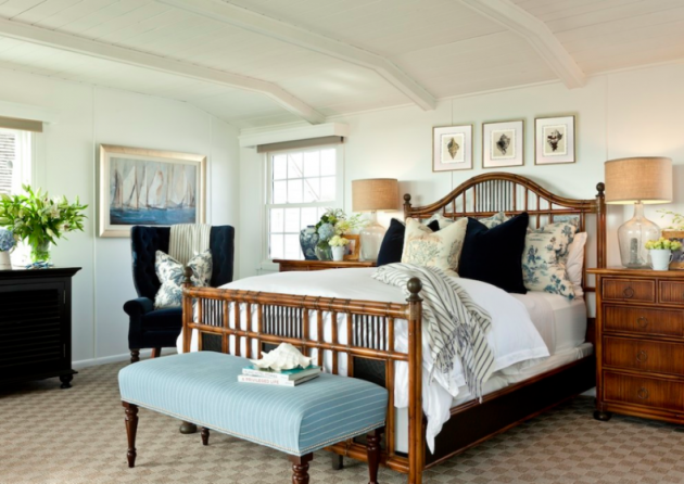 Фото: ротанговая мебель в спальне